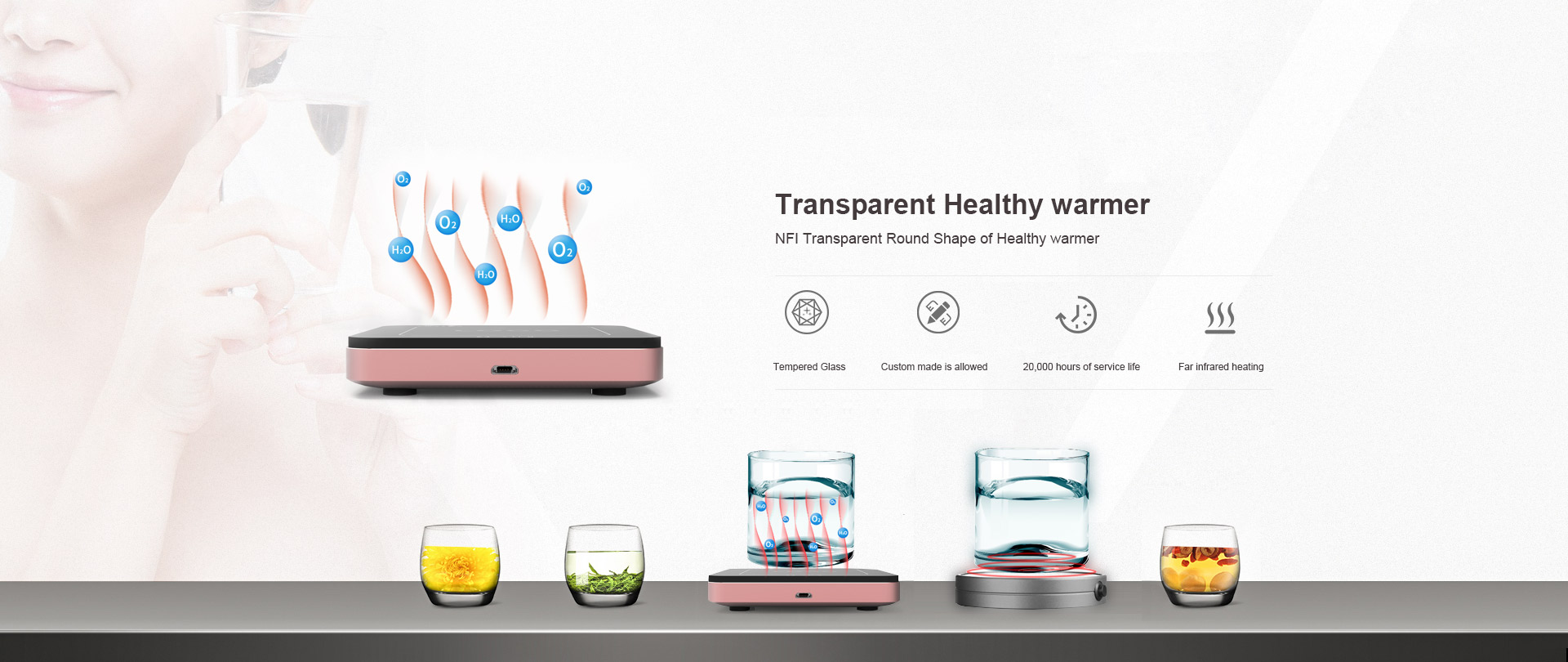 Transparent Healthy warmer